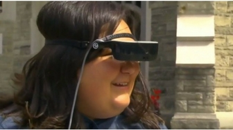 Teen born with limited sight gets high-tech vision