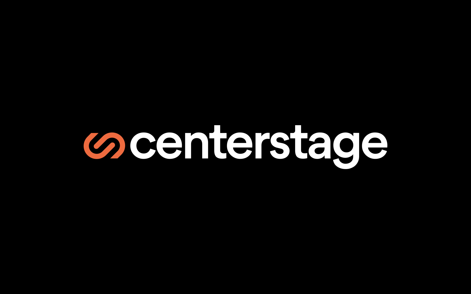 Centerstage logo on black