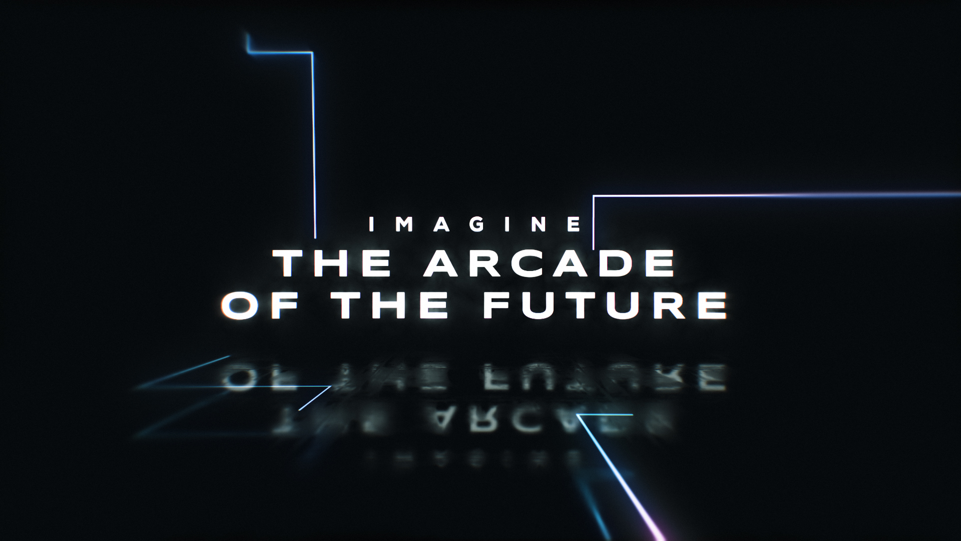 video screenshot that reads 'image the arcade of the future'