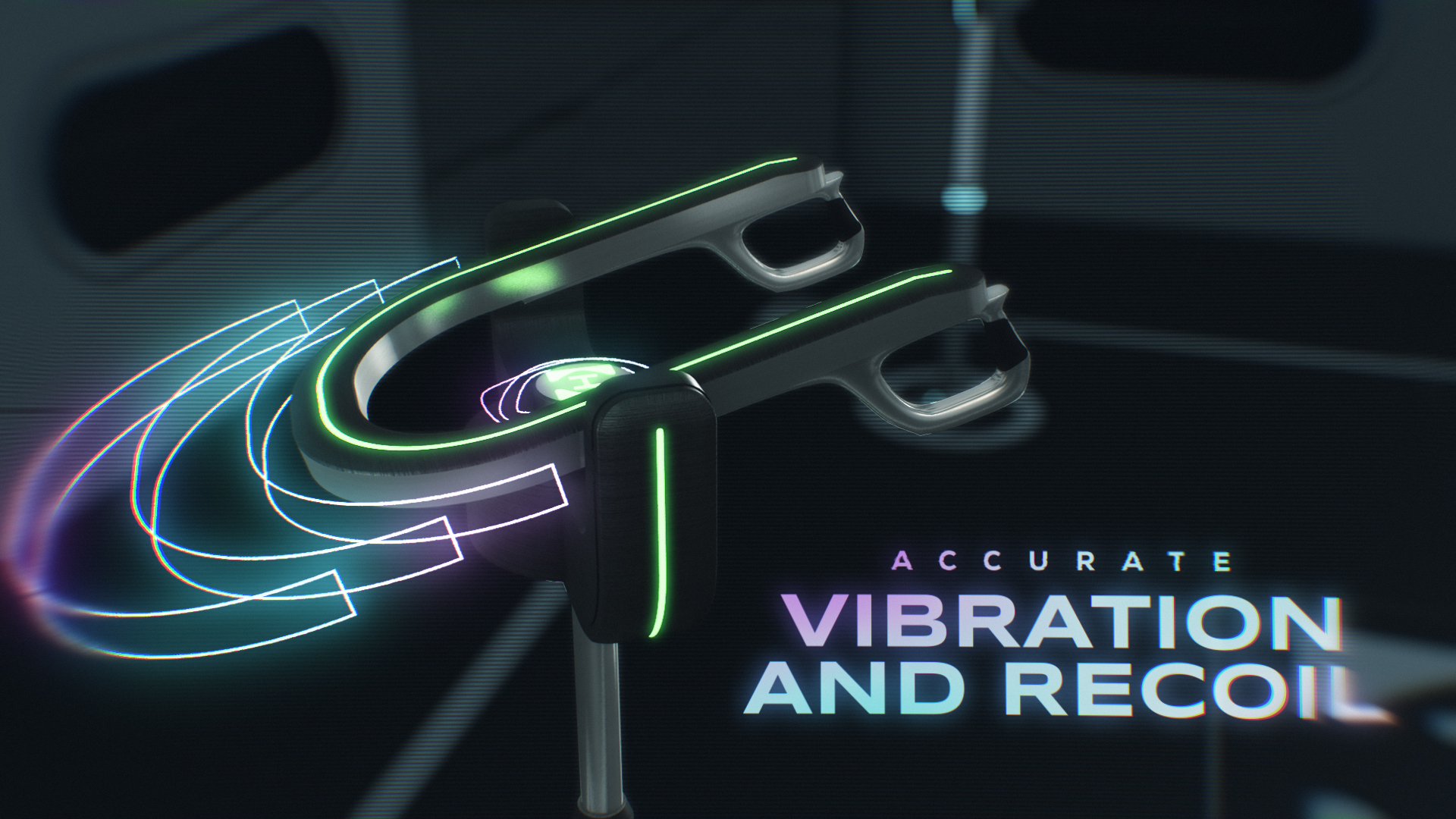 Hyperdeck controller with text that reads 'accurate vibration and recoil'