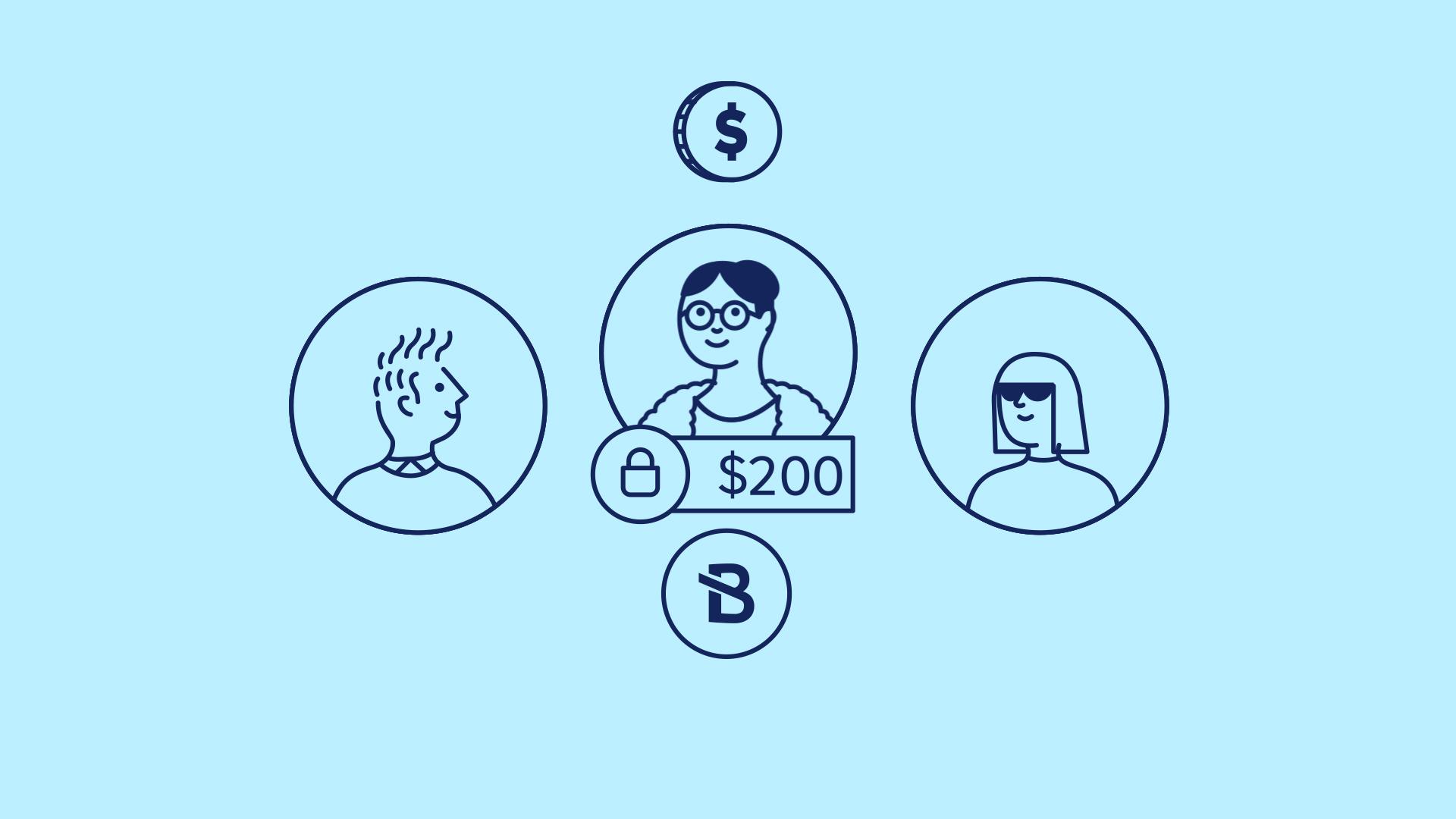 Illustration of three millennials