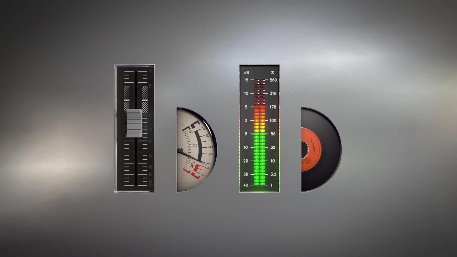 Bom Bom logo stylized to look like an audio engineer's console