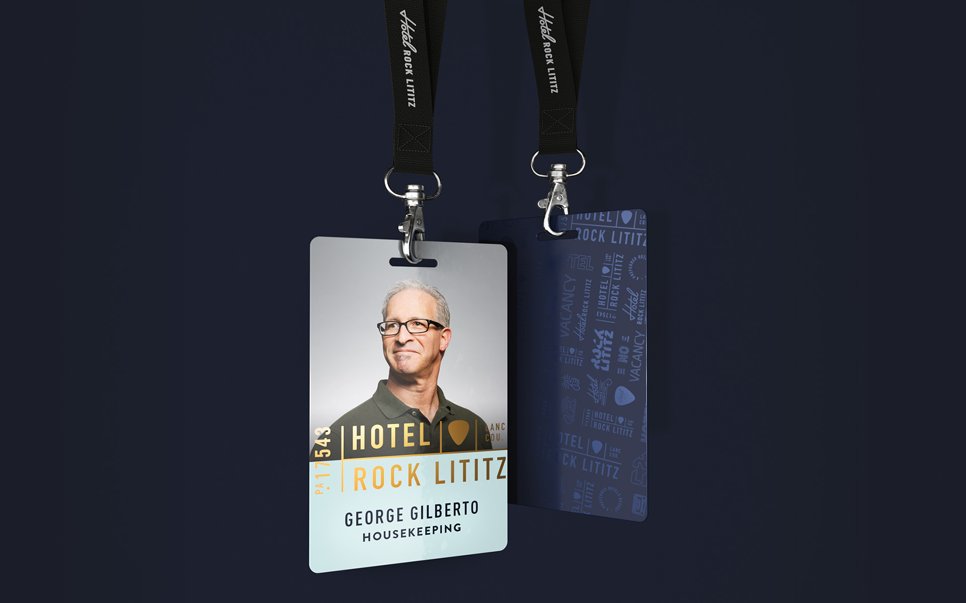 Hotel Rock Lititz ID badge design