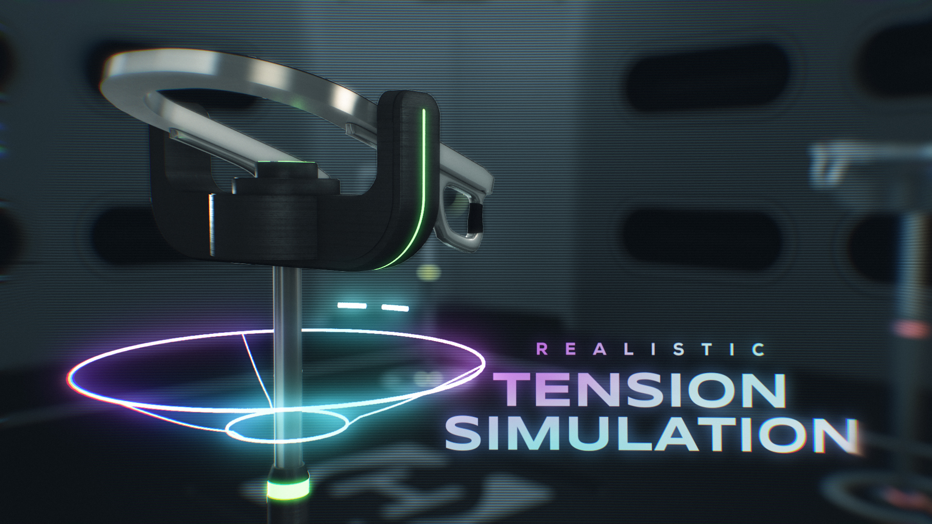 Hyperdeck controller with text that reads 'realistic tension simulation'