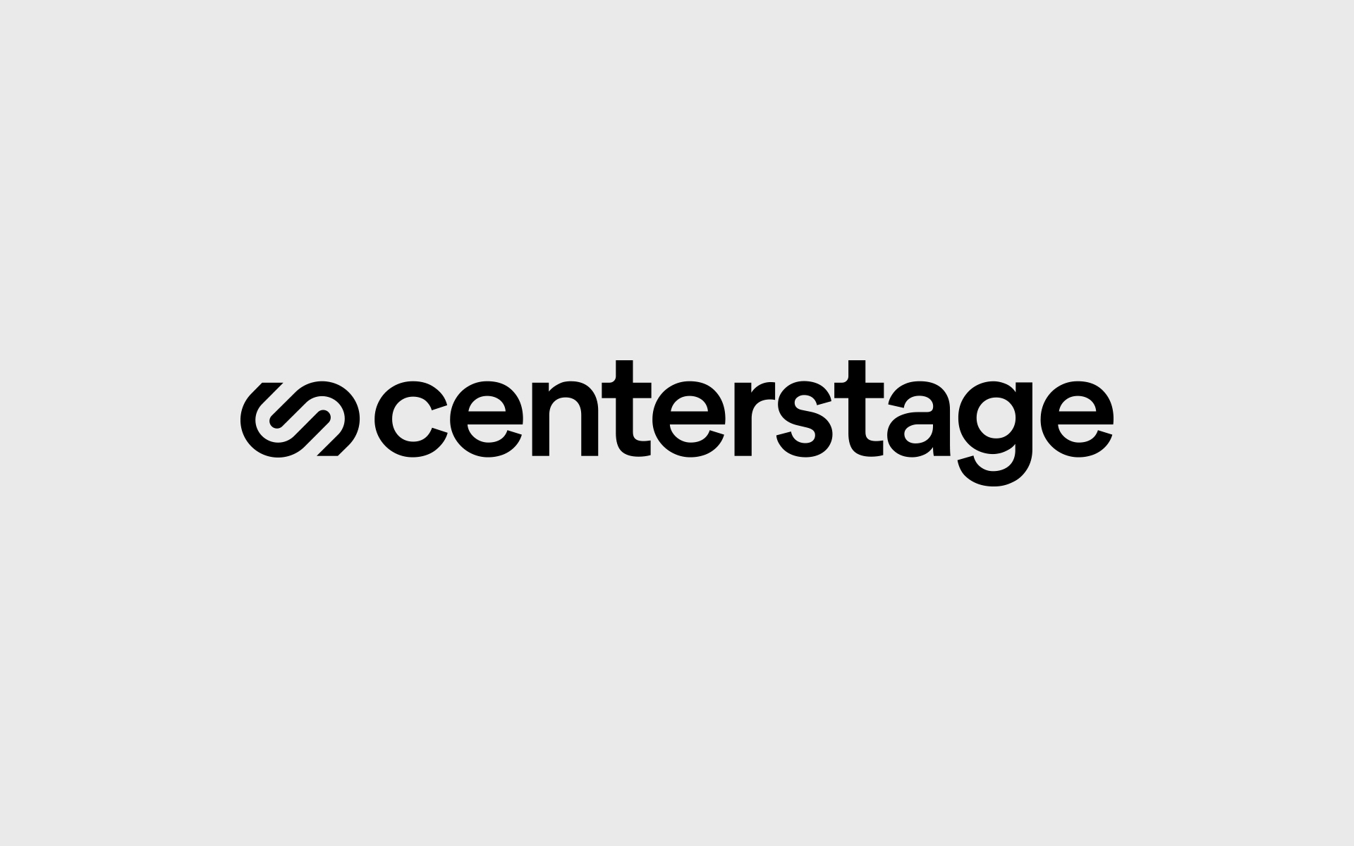 monochromatic Centerstage logo