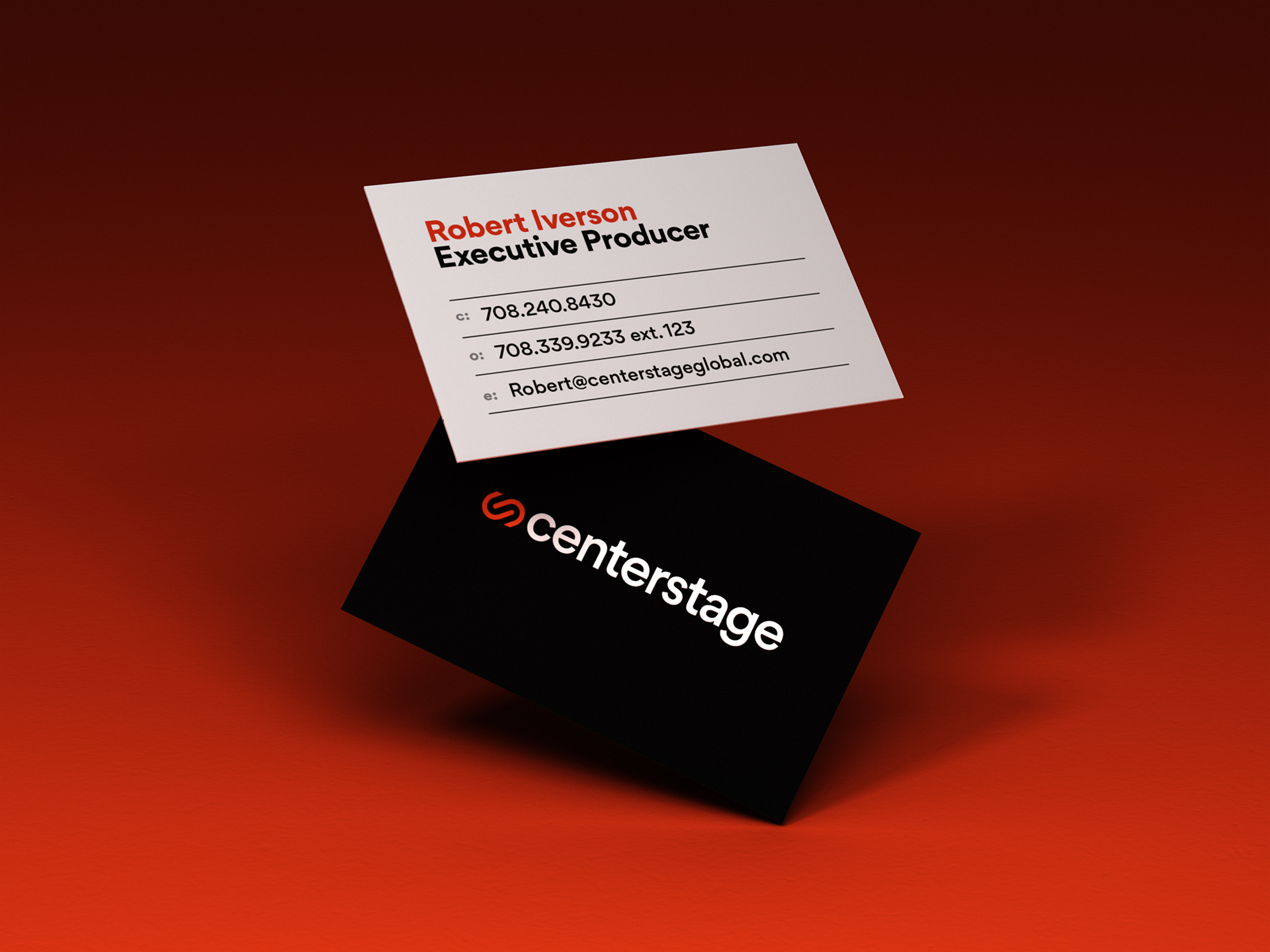 Centerstage business cards