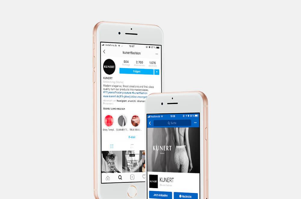 Social Media: Betreuung von Instagram und Facebook für Kunert