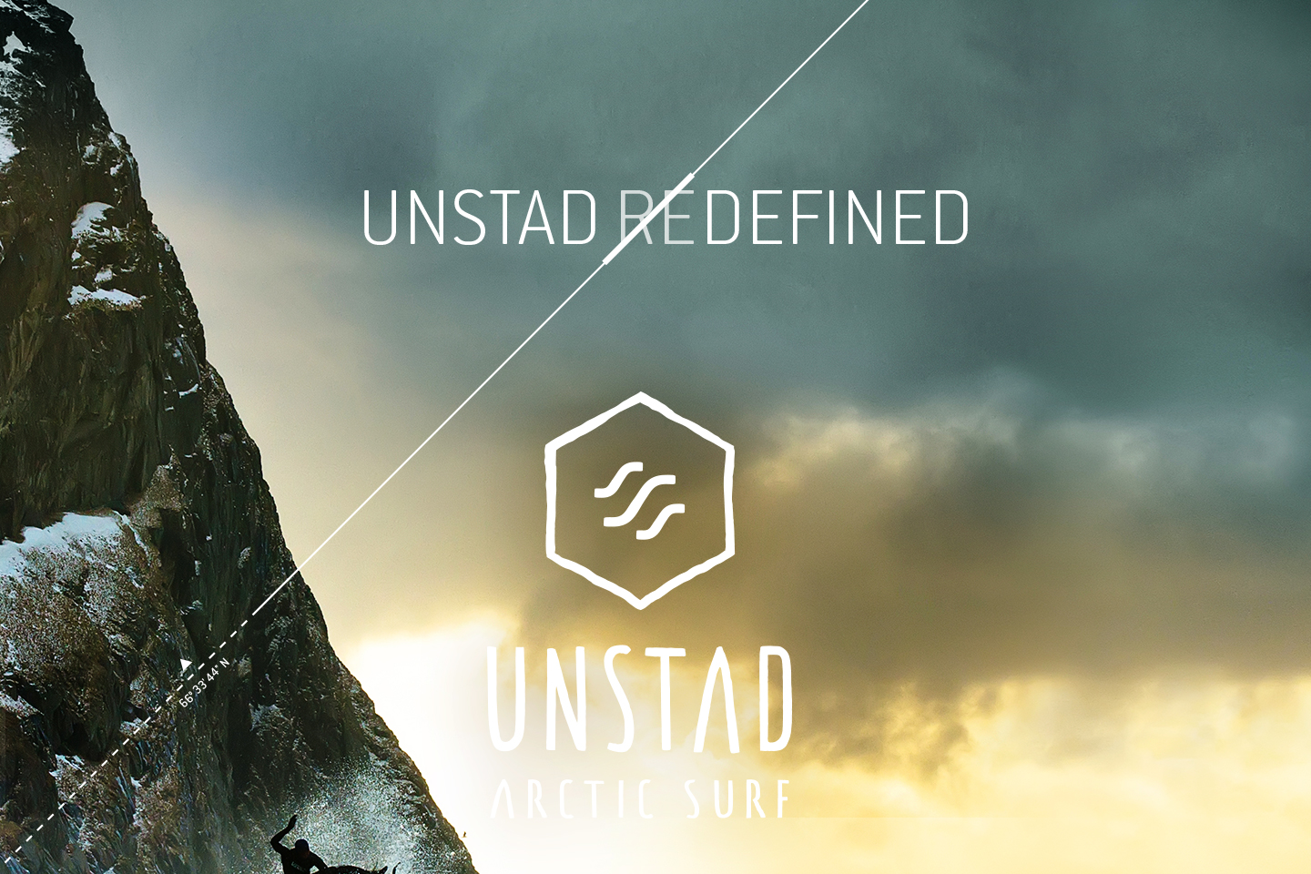 Unstad Arctic Surf logo and surf image