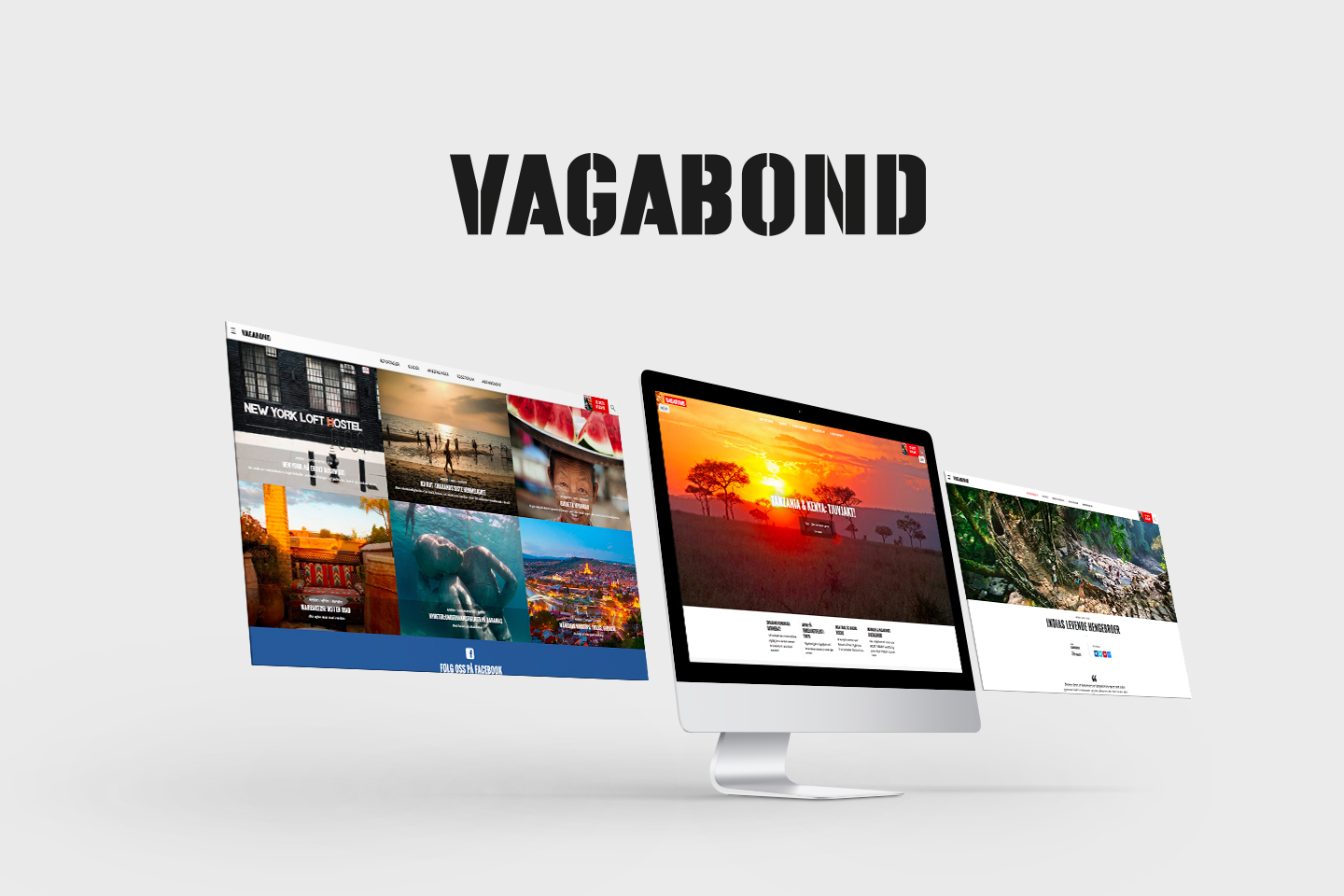 Vagabond website on imac
