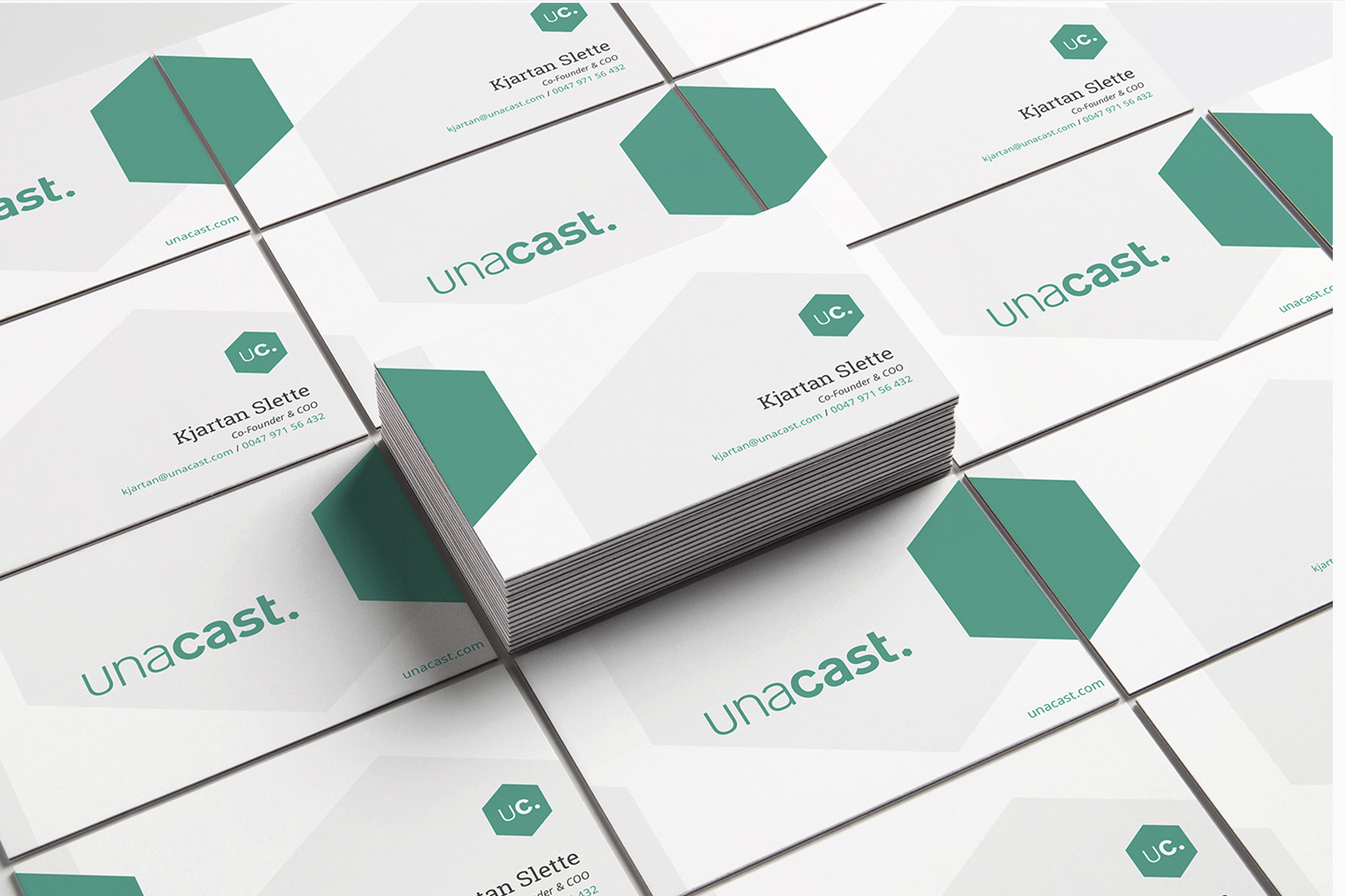 Unacast business cards