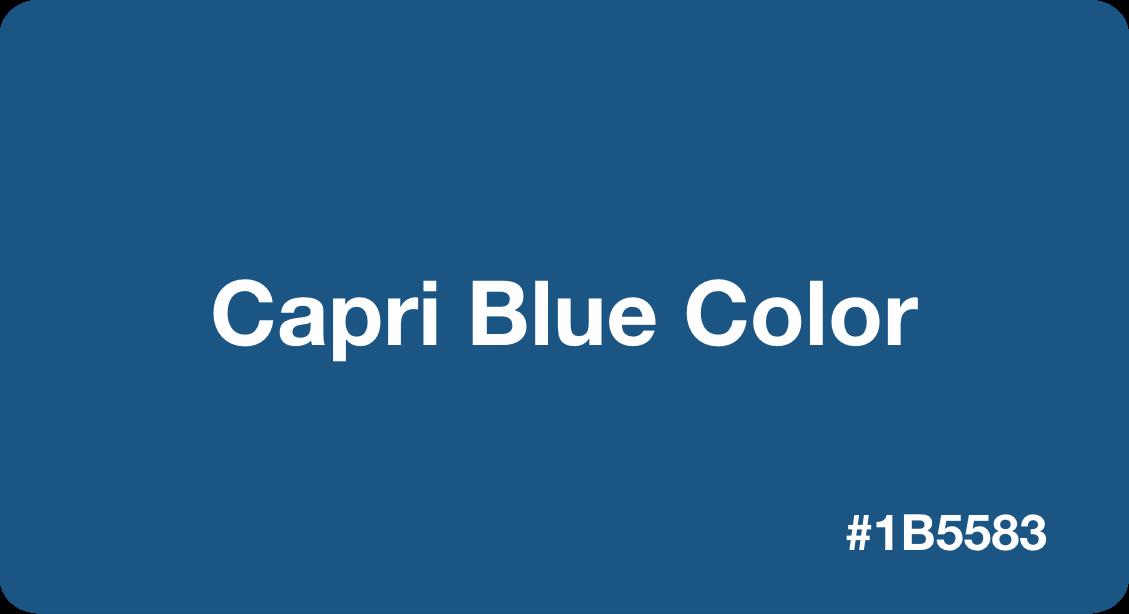 Capri Blue Color