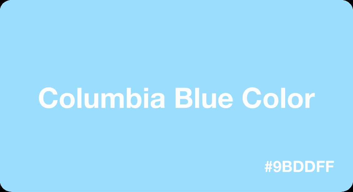 Columbia Blue Color