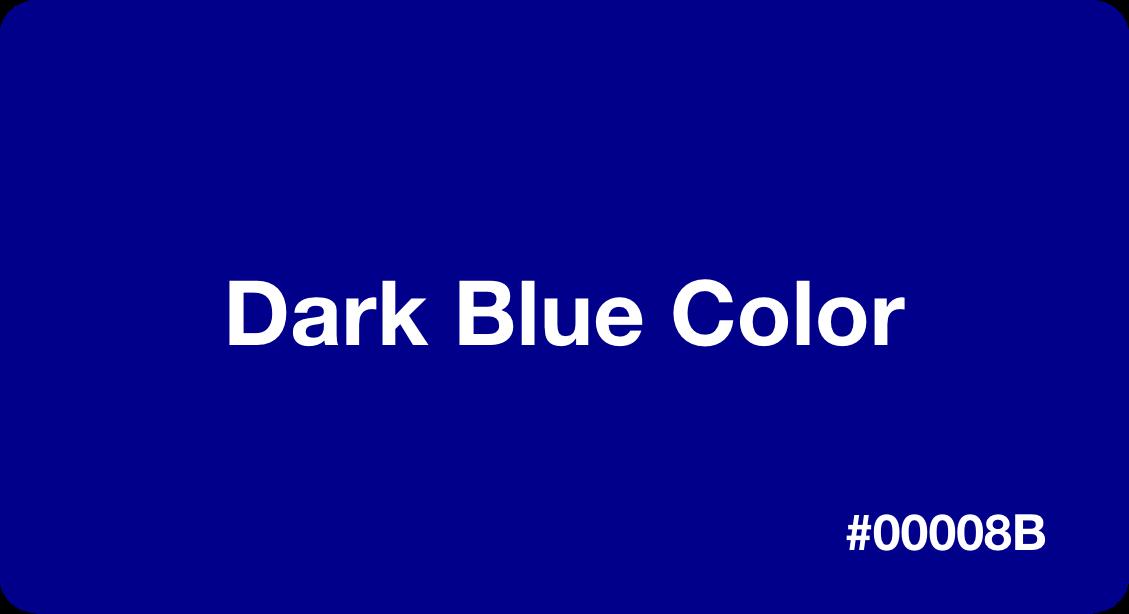 Dark Blue Color