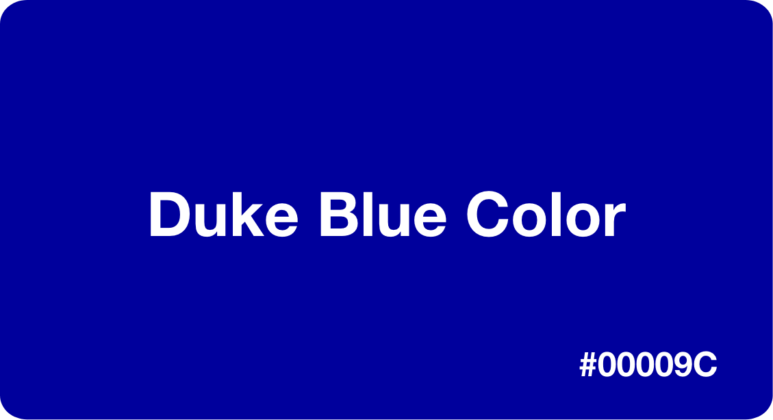 Duke Blue Color