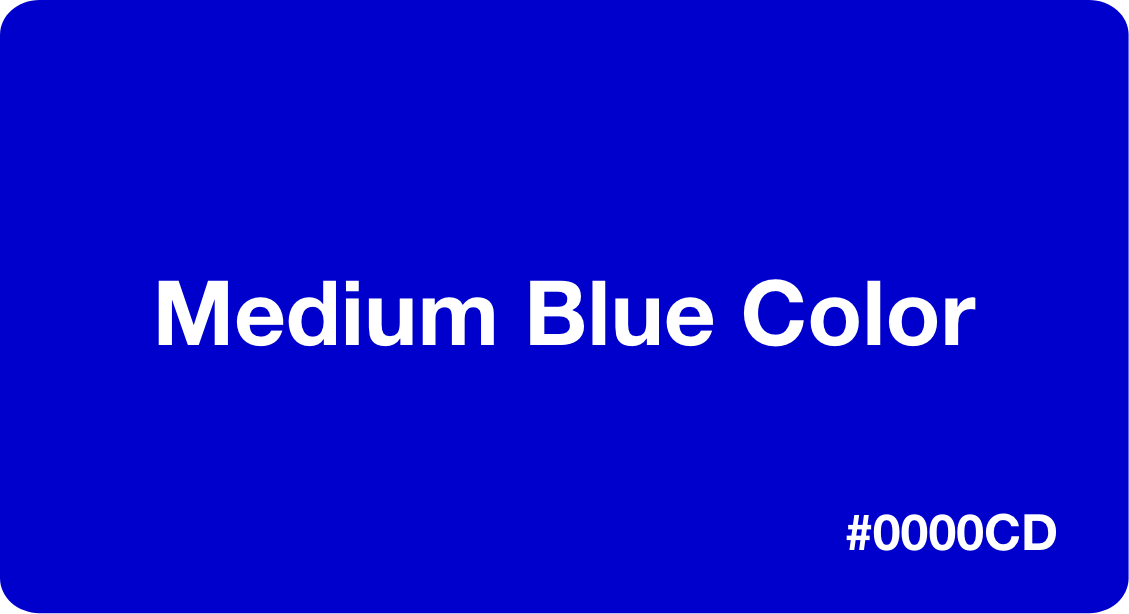 Medium Blue Color