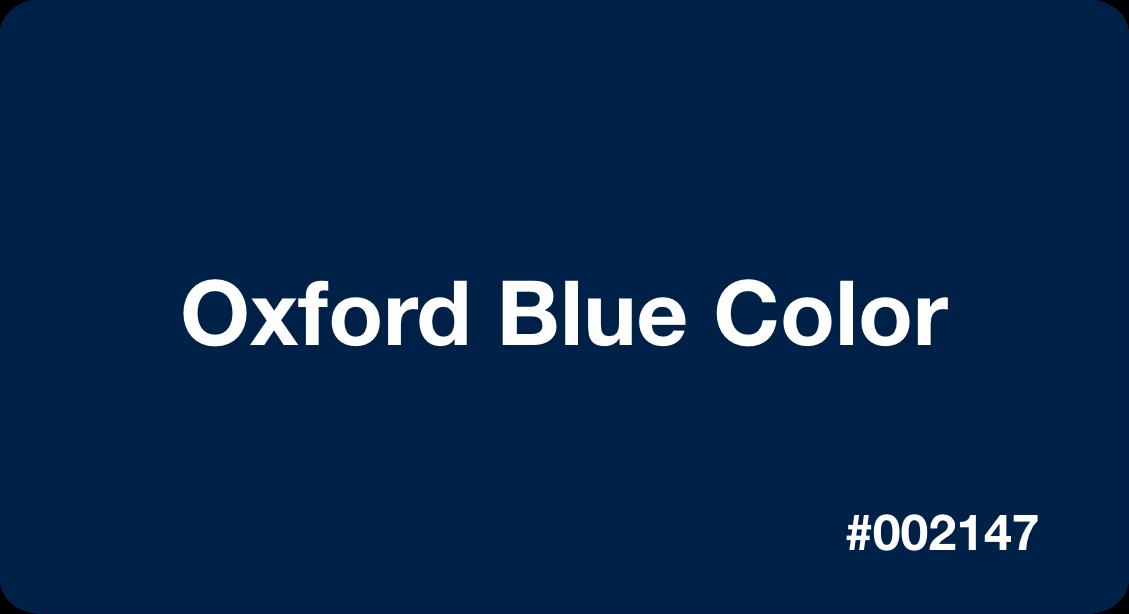 Oxford Blue Color
