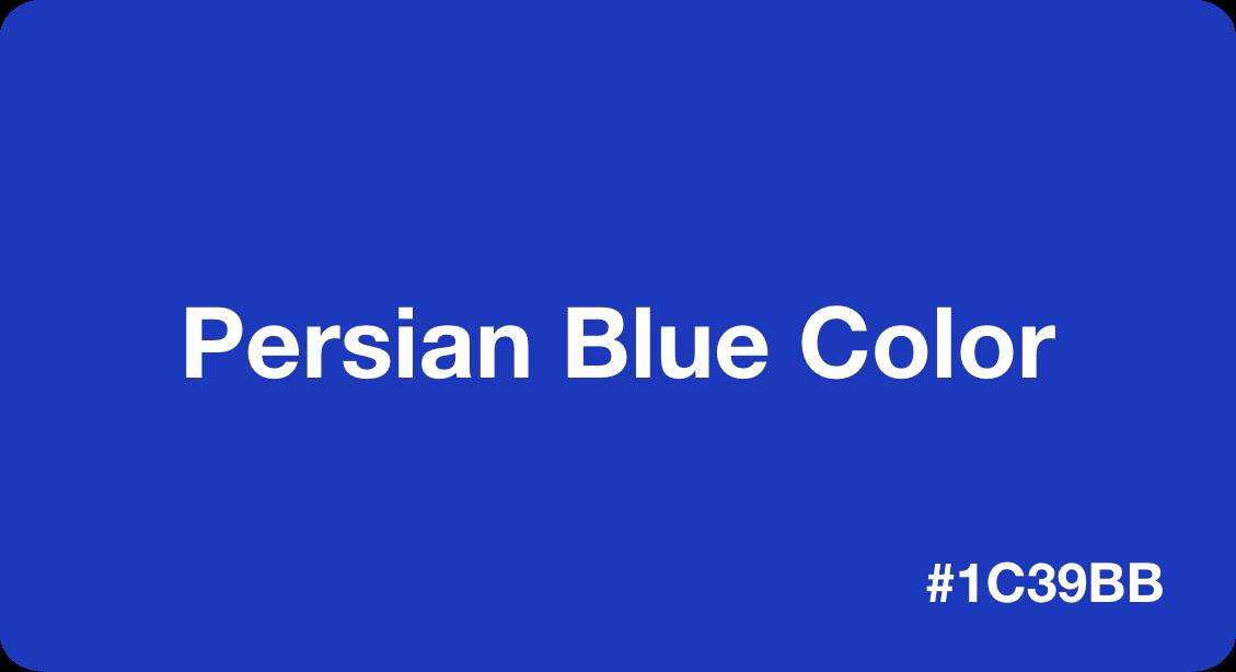 Persian Blue Color