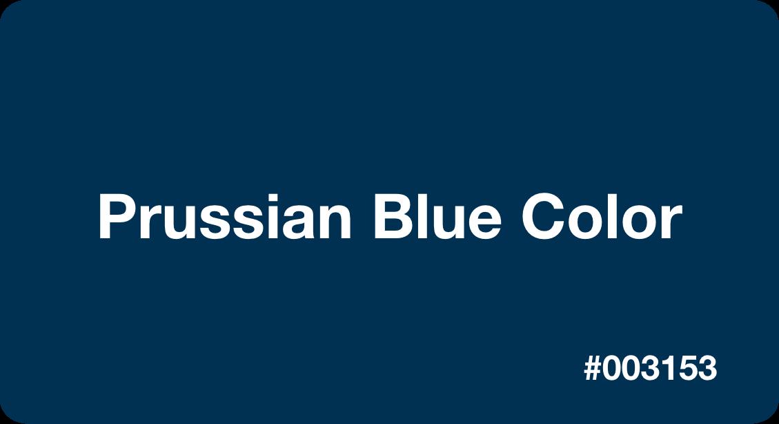 Prusian Blue Color