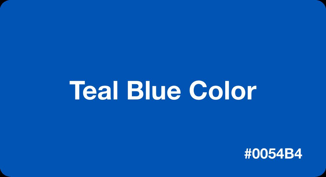 Teal Blue Color