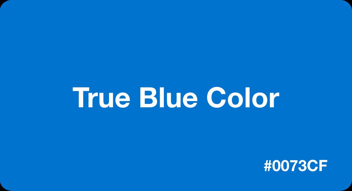 True Blue Color