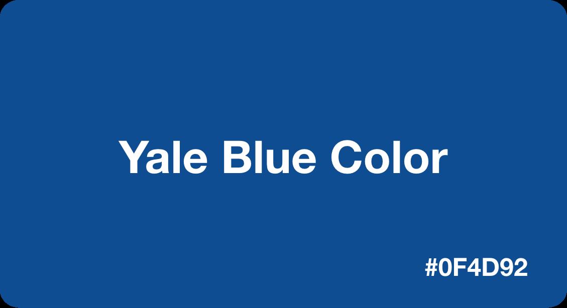 Yale Blue Color