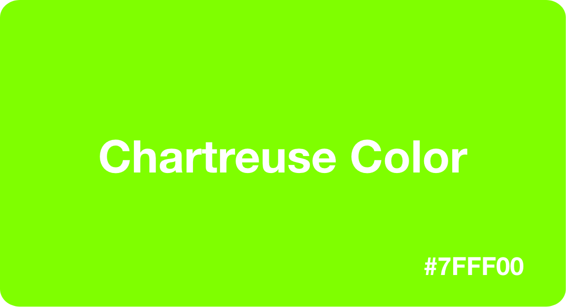 Chartreuse Color Hex Code 7fff00