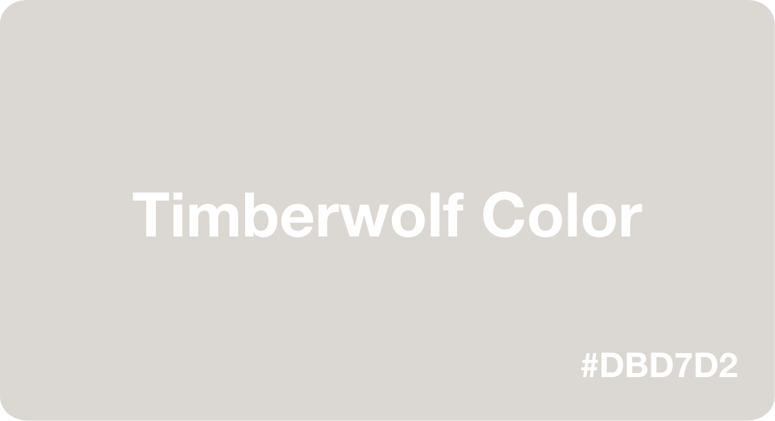 timberwolf color