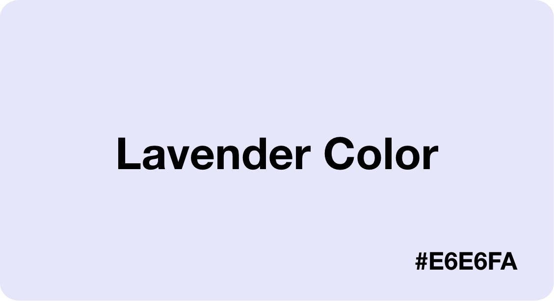 lavender color