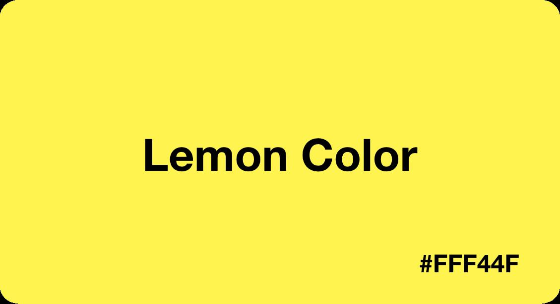 Lemon Color