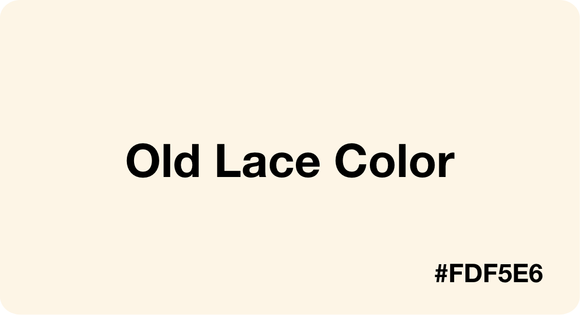 Old Lace Color