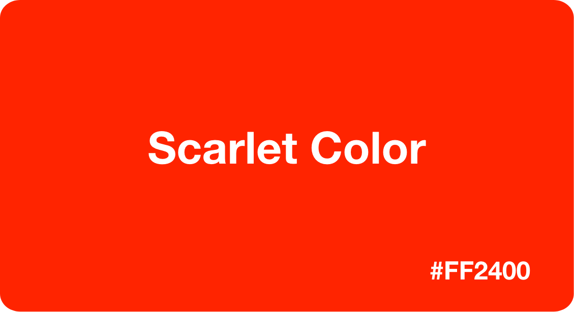 Scarlet Color