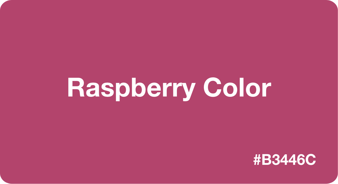 raspberry color
