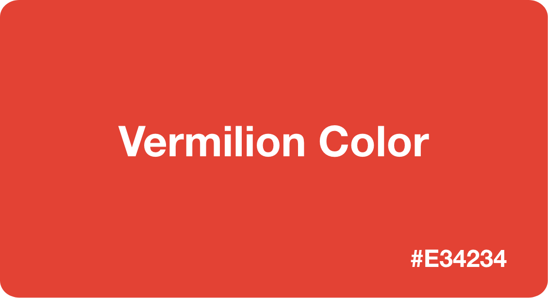 Vermilion Color
