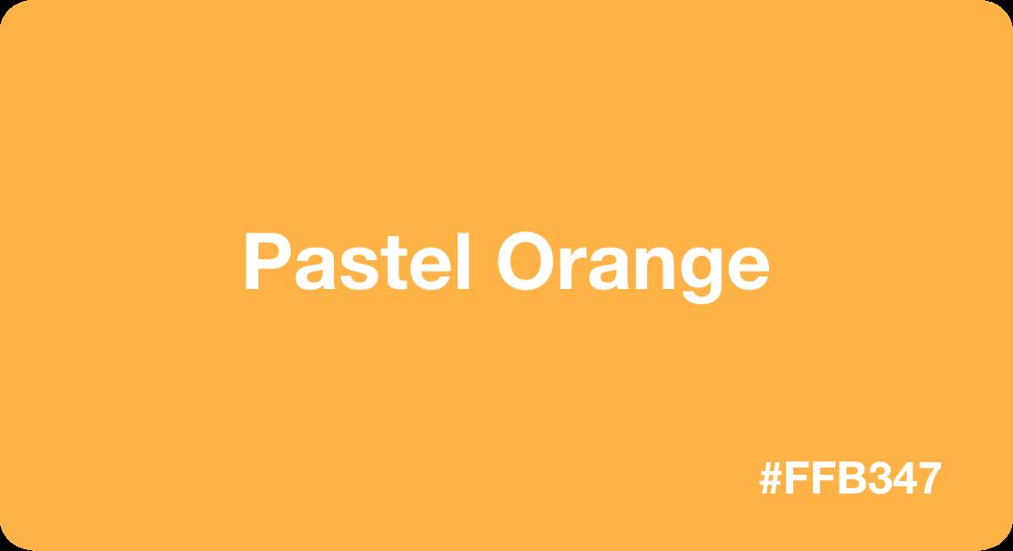 Pastel Orange