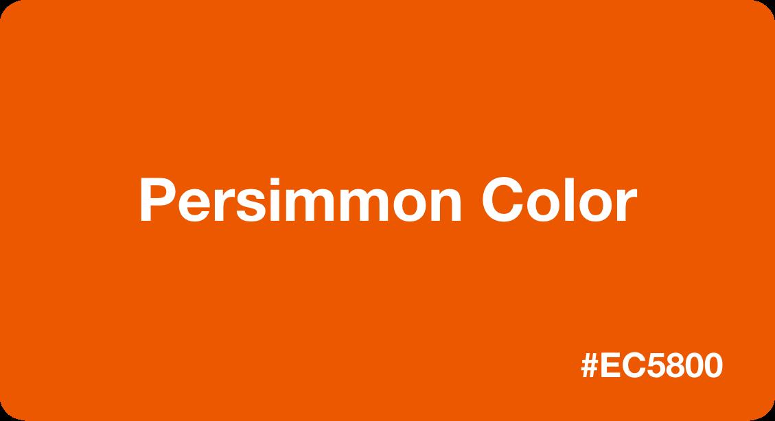 persimmon color