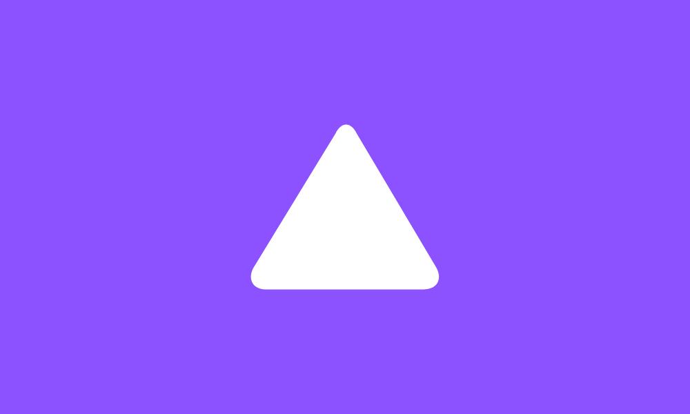 Triangle symbol icon