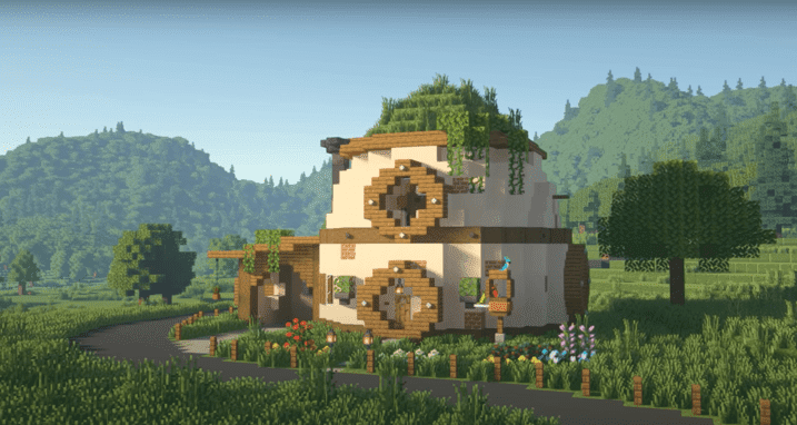 Egg House Made in Minecraft