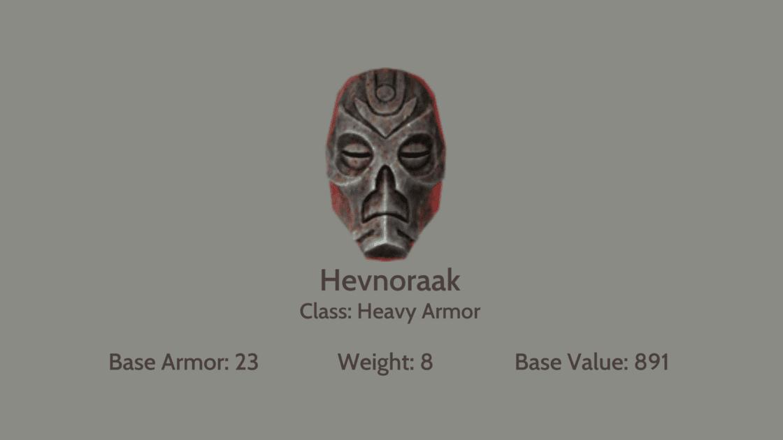 Hevnoraak mask info card