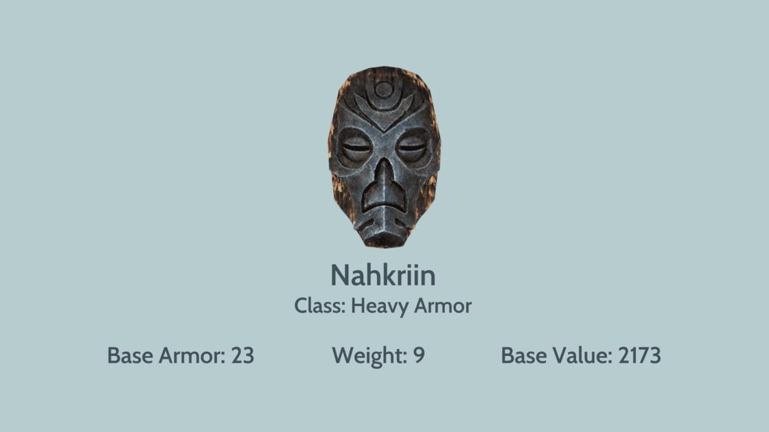 Nahkriin mask info card