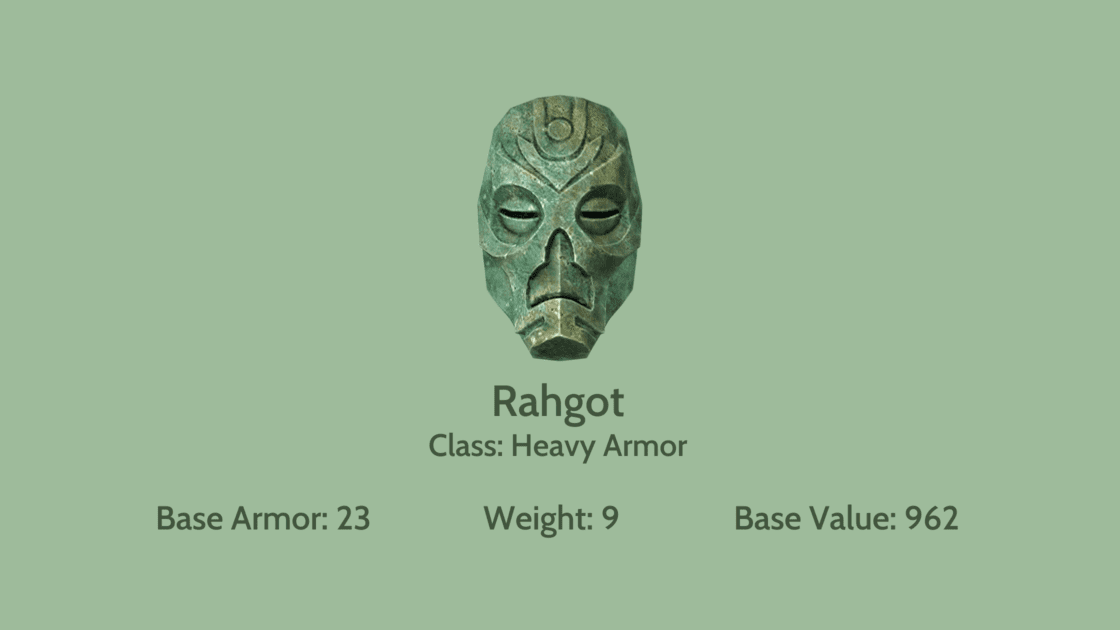 Rahgot mask info card