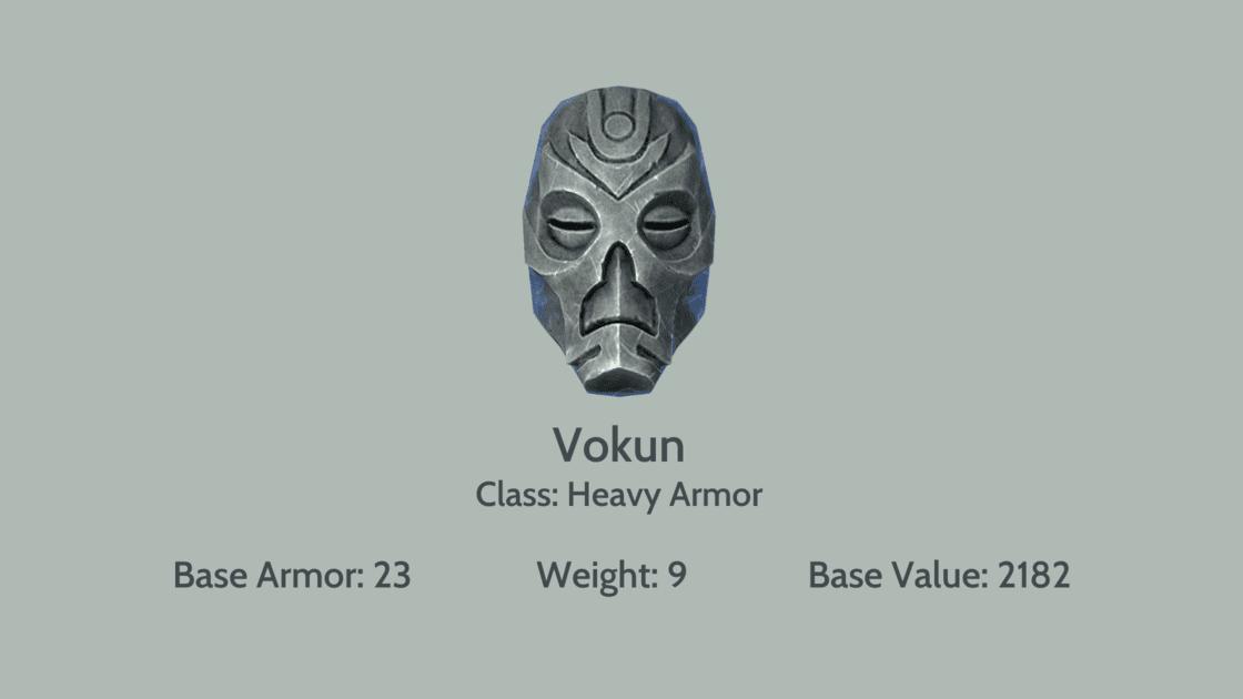 Vokun mask info card