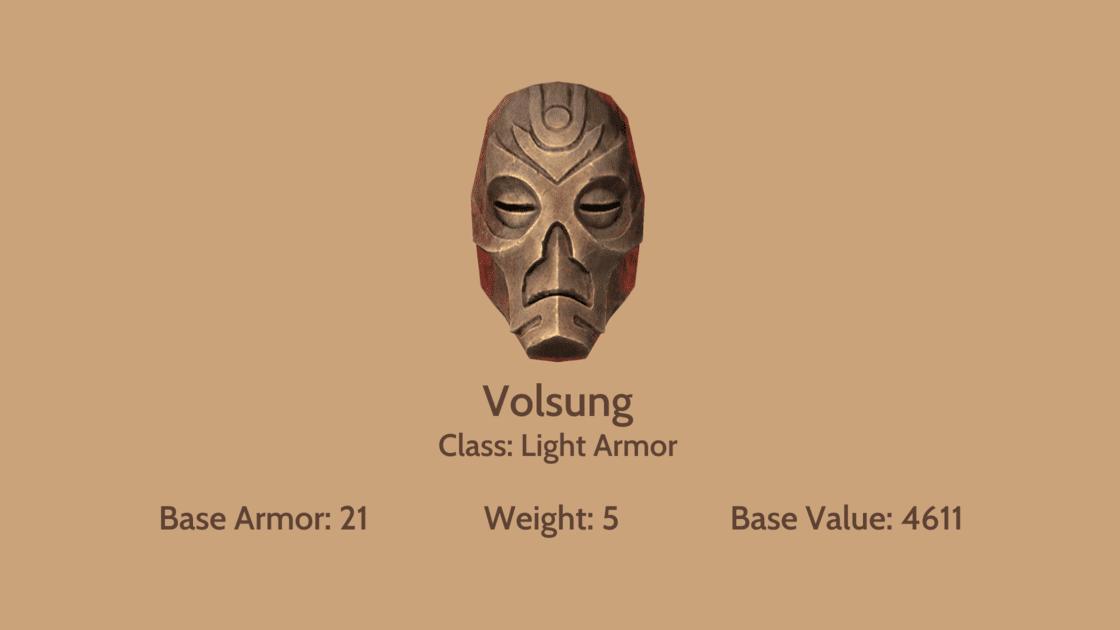 Volsung mask info card