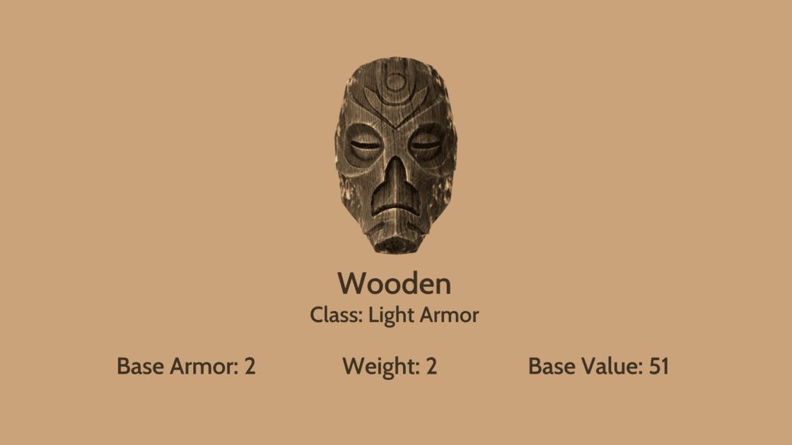 Wooden Mask info card