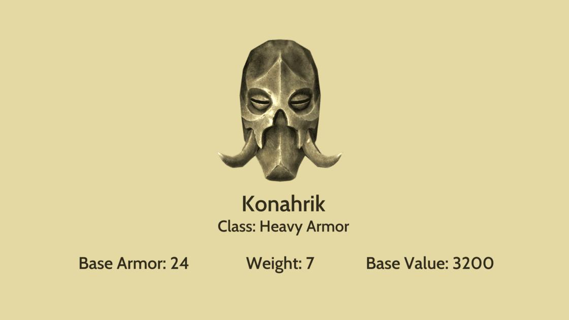 Konahrik mask info card