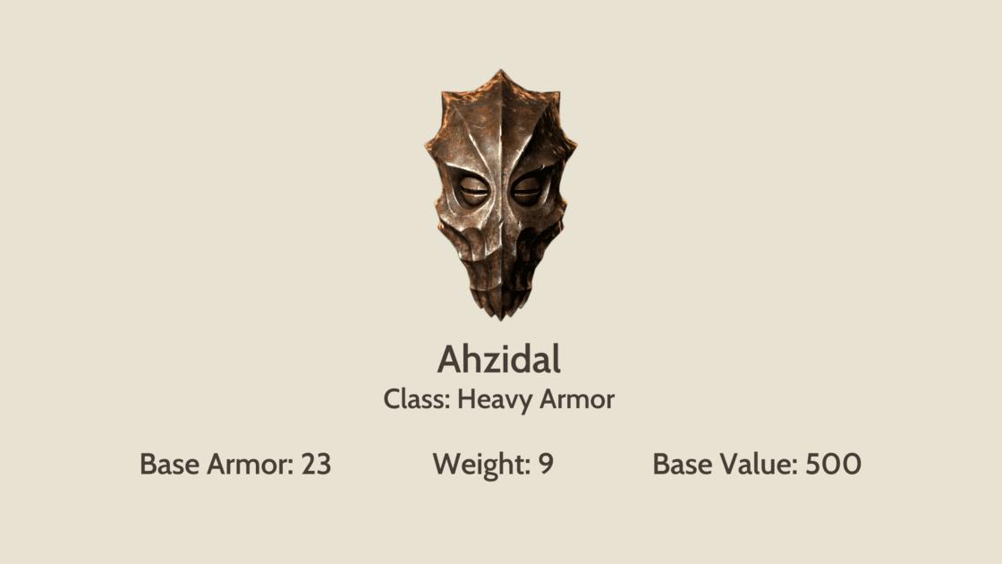 Ahzidal mask info card