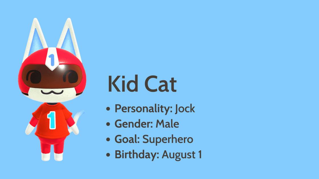 Kid Cat info card