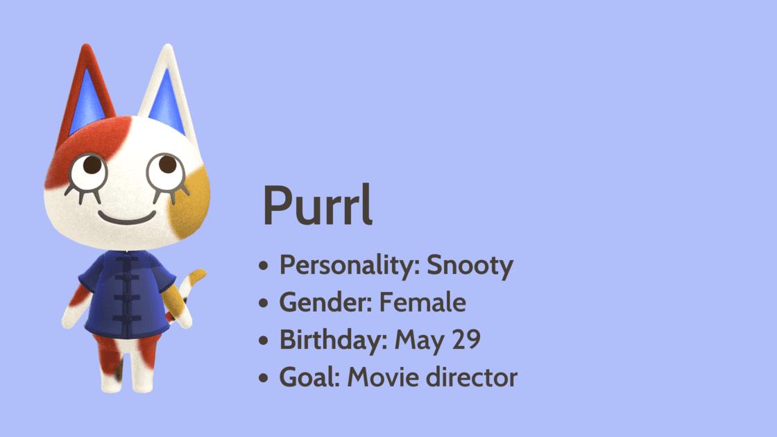 Purrl info card