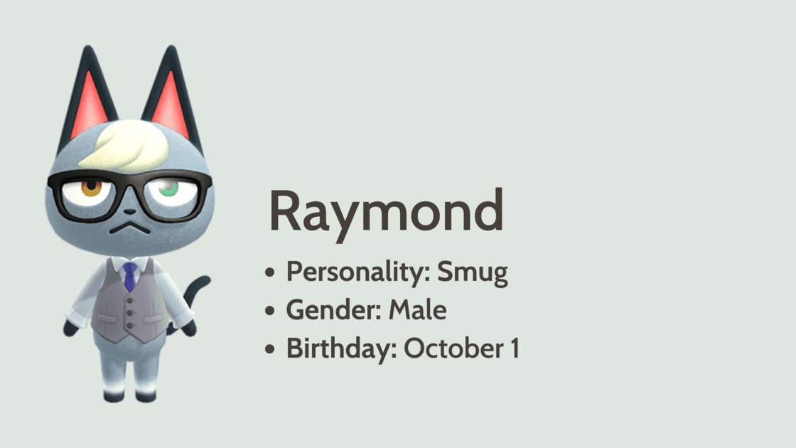 Raymond info card