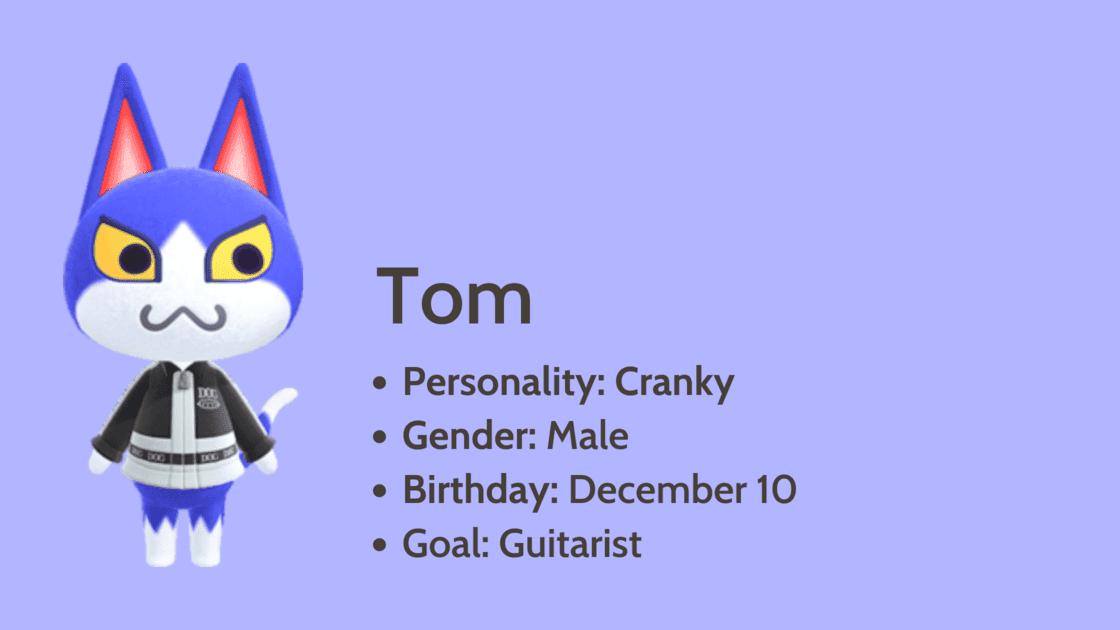 Tom info card
