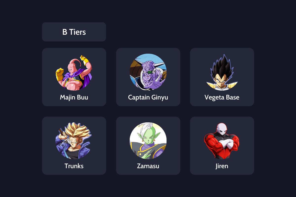 Dragon ball fighterz b tier list
